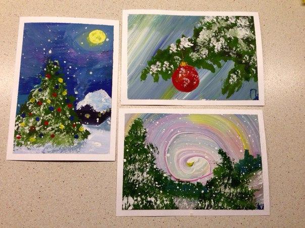Зимние открытки Елены